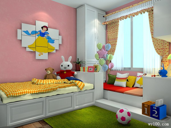 儿童房装修效果图 16�O柜体高低错落_维意定制家具商城