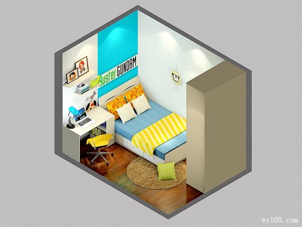 儿童房装修效果图 8�O书桌与飘窗的搭配_赌盘网