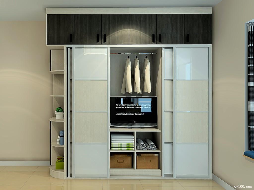 飘窗卧室效果图 15㎡大衣柜的设计
