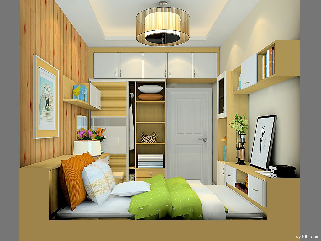 卧室榻榻米装修效果图 9㎡整体清新简约