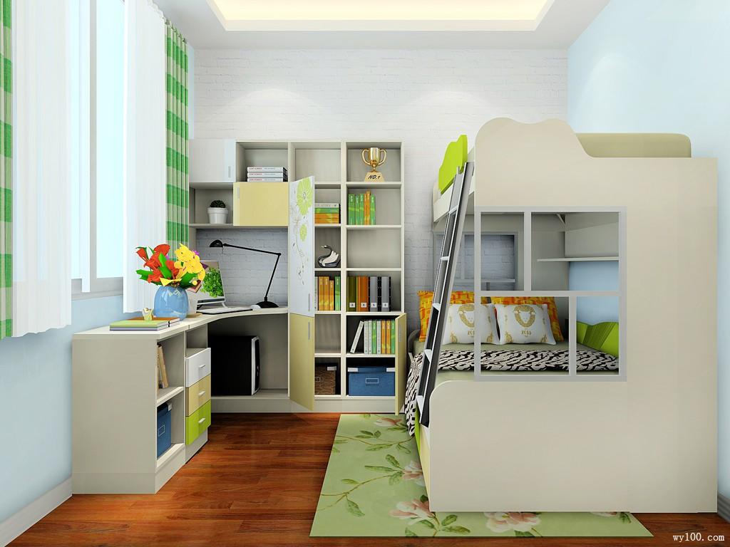 兒童房間裝修效果圖 12㎡整體擺放整齊大方