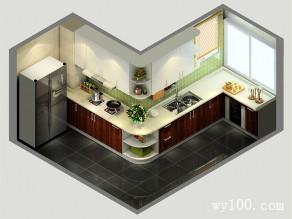 L型地柜�N房效果�D 14�O整�w�o人清新自然的感�X_�S意定制家具商城