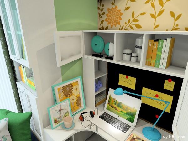 飘窗榻榻米书房设计效果图 6�O创意储物显功力_维意定制家具商城