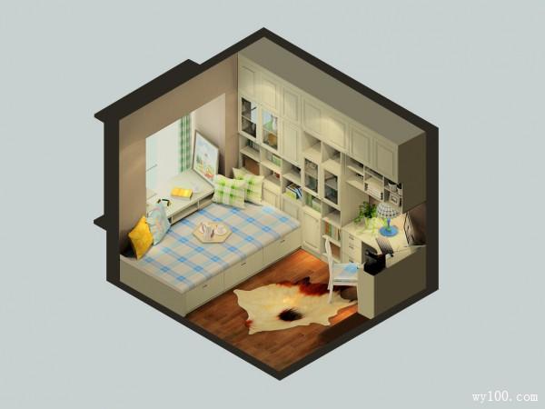榻榻米书房装修效果图 9�O小户型用户的最佳选择_维意定制家具商城
