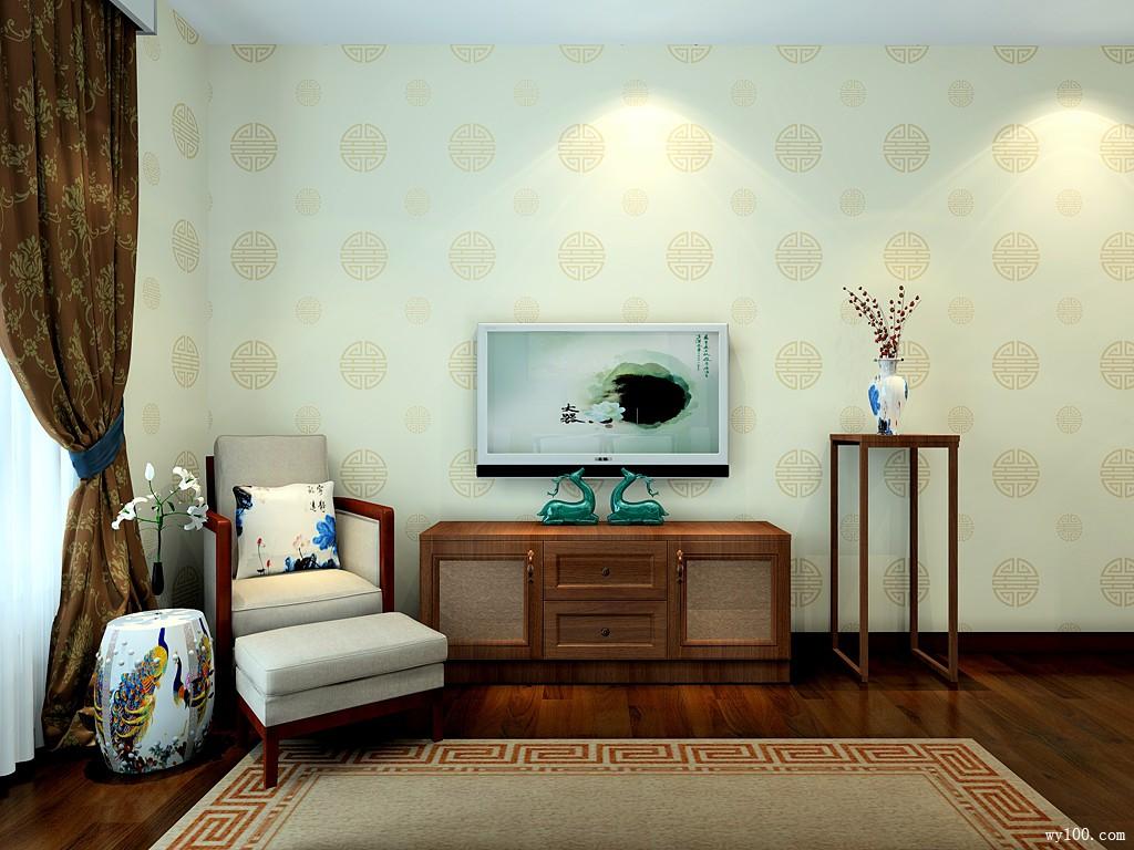 红木隔断卧室效果图 22㎡硬装背景墙的搭配