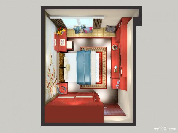 大衣柜卧室效果图 13㎡有大衣柜和一米五的床