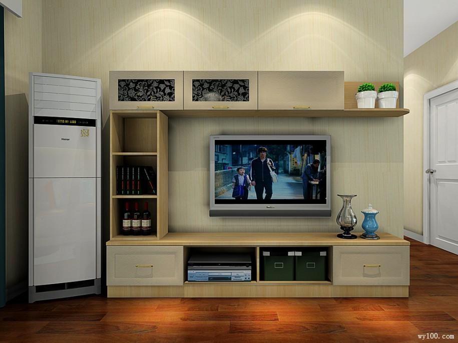 电视背影墙一体客餐厅效果图 43㎡清新,自然