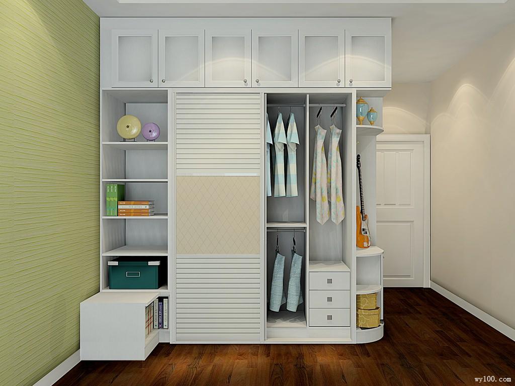 田园欧式卧室效果图 20㎡圆弧衣柜打造温馨空间