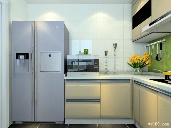 L型的橱柜厨房 吊柜增强空间收纳_赌盘网