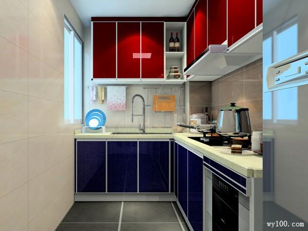 L型橱柜厨房效果图 7平使生活充满格调_赌盘网