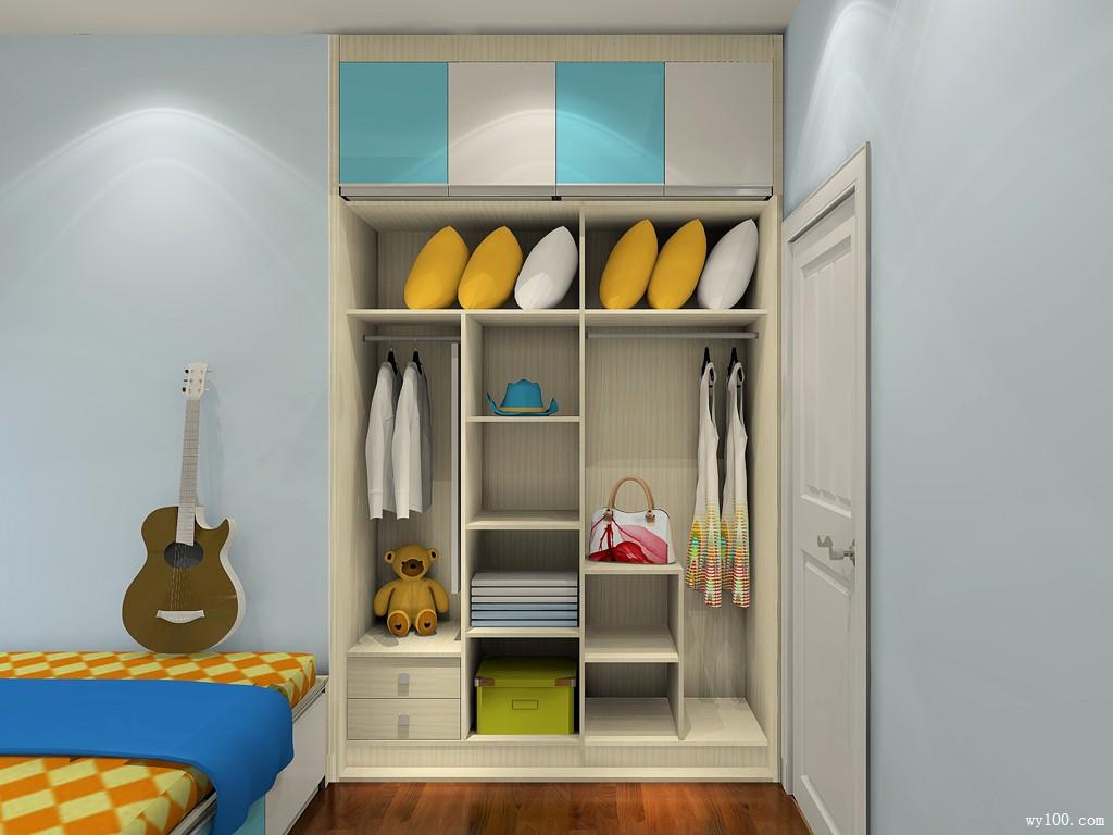 衣柜书桌儿童房效果图 11平增加房间的收纳空间