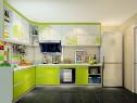 L行橱柜设计效果图 7平葱绿朦胧让整个空间清新自然_赌盘网