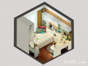 主卧室装修效果图 9�O小空间大利用_赌盘网