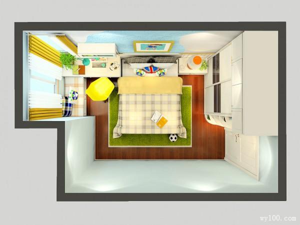 隔断柜儿童房装修效果图