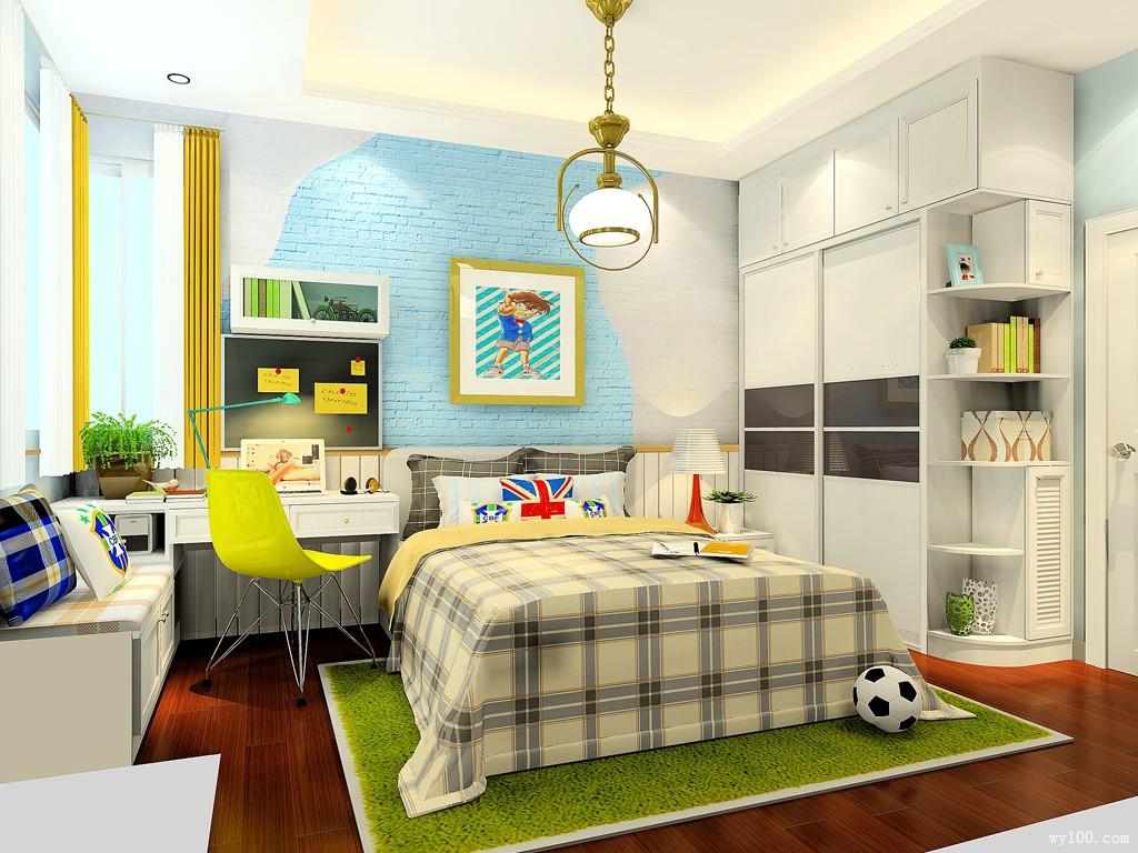 11㎡定制儿童房凹位设计效果图_维意定制家具商城
