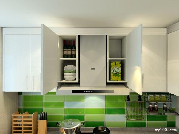 自然风格厨房效果图 9�OU字型的橱柜布局_赌盘网