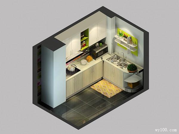 凹位橱柜整体设计 使厨房舒适自然_赌盘网