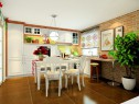 吧台式厨房效果图 14㎡整体空间设计大方且清新_维意亚博娱乐手机登录手机专用家具商城