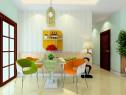 简约现代客餐厅 从餐桌都客厅清新自然_赌盘网