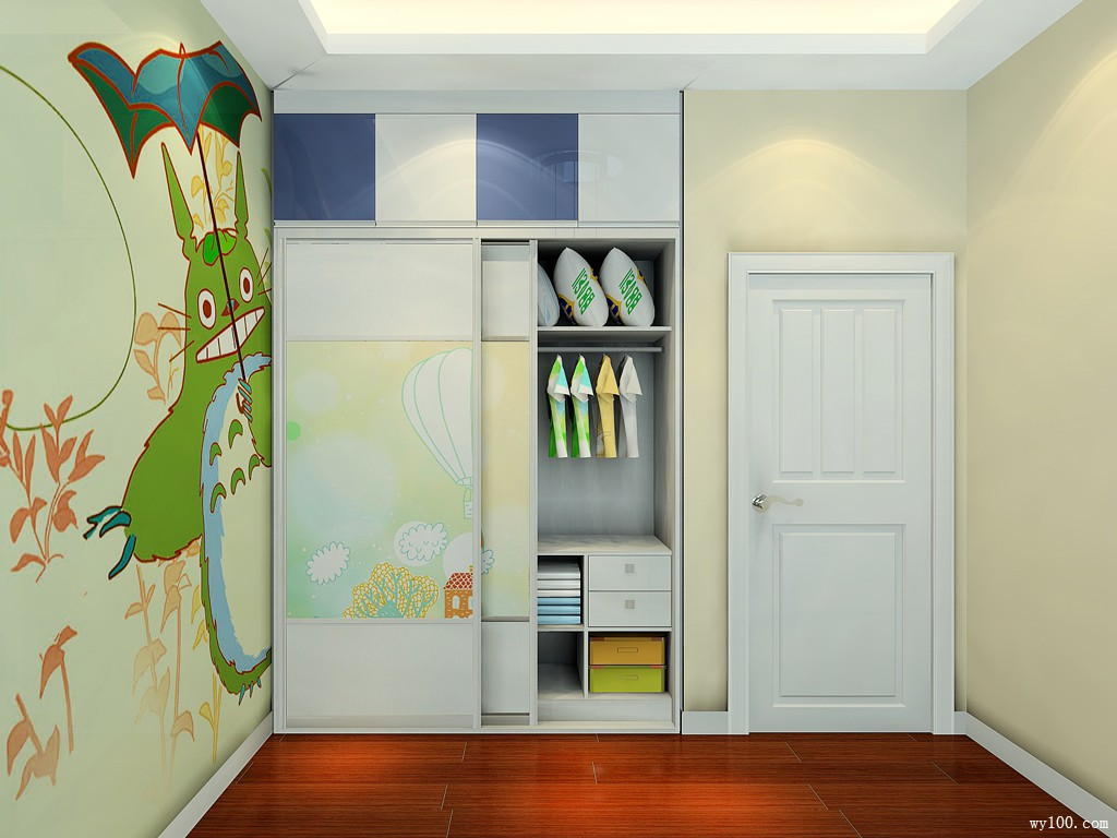 可爱儿童房间效果图 10㎡榻榻米的组合形式