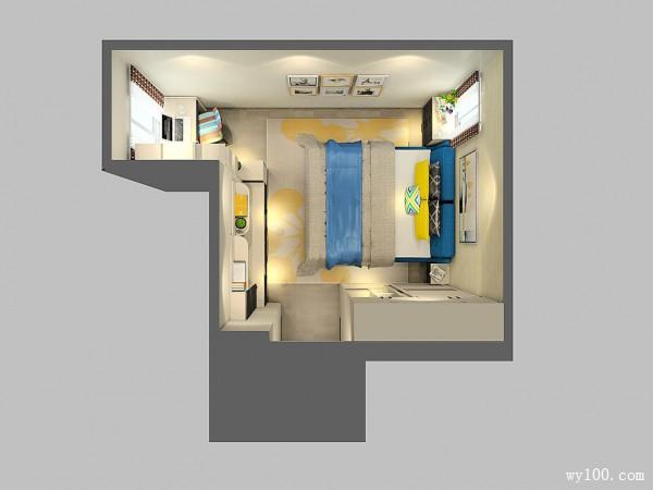电视背景墙卧室效果图 18�O转角位置加入书桌_赌盘网
