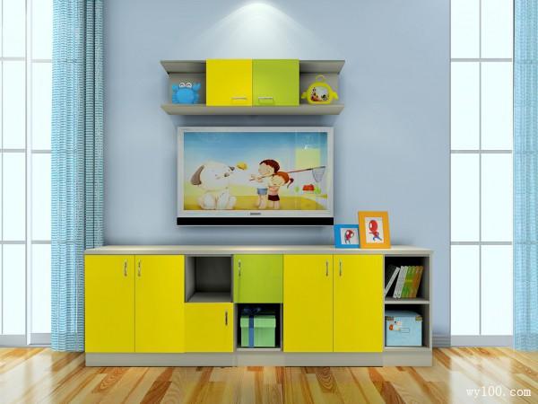 电视柜儿童房装修效果图
