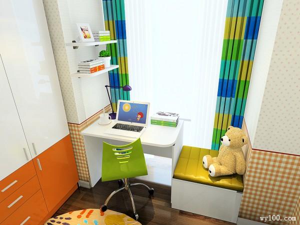 飘窗儿童房装修效果图