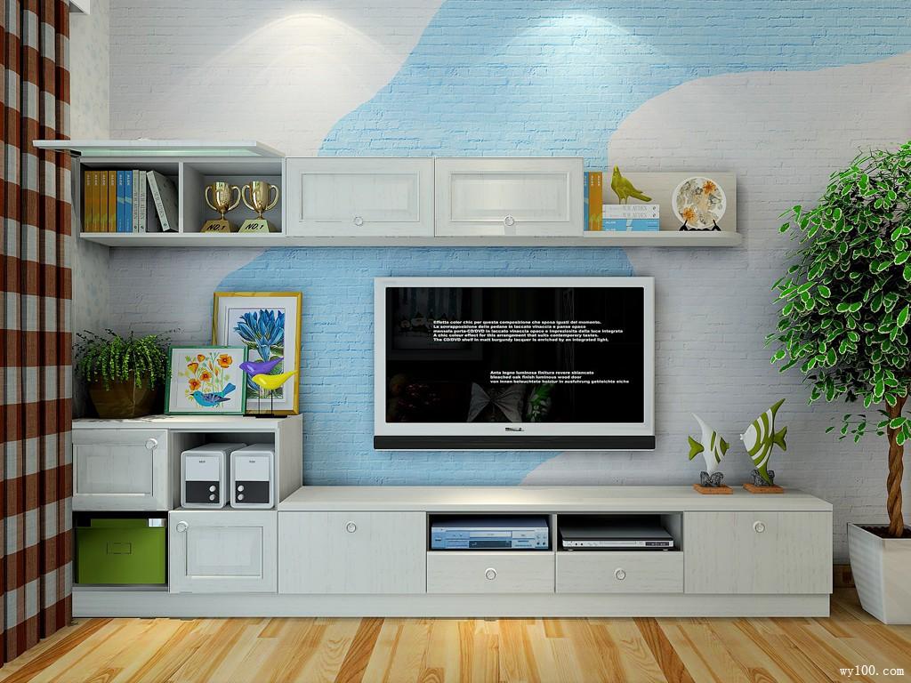 客餐厅一体隔断效果图 15㎡时尚的电视柜造型