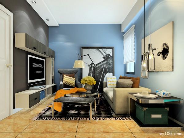 客餐厅装修效果图 50�O整体空间简洁时尚_维意定制家具商城
