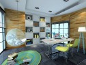美式书房 高低吊柜和书桌放置使空间充满灵动性_赌盘网