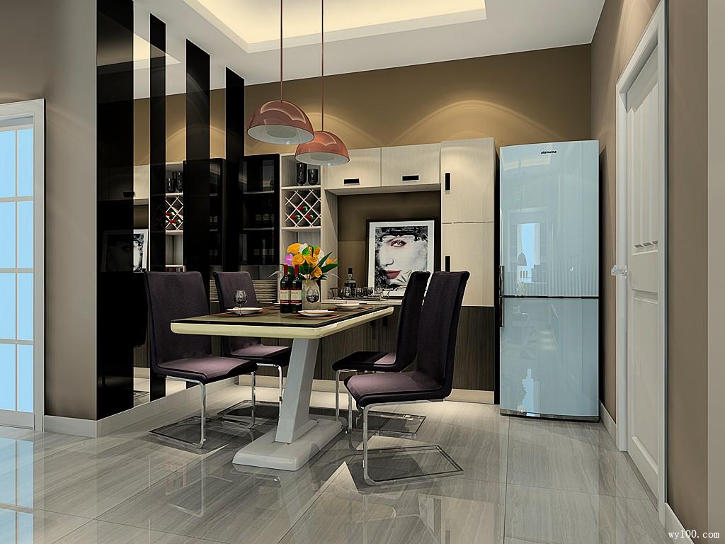 客餐厅装修效果图 51㎡背景墙让空间更加大气_维意定制家具商城