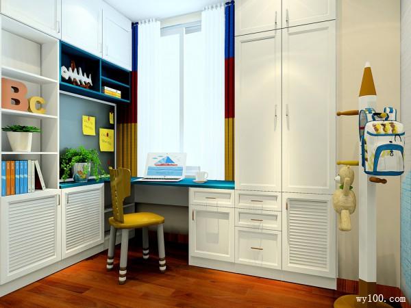 上下床儿童房设计 隔断窗分割了学习和睡眠区域_赌盘网