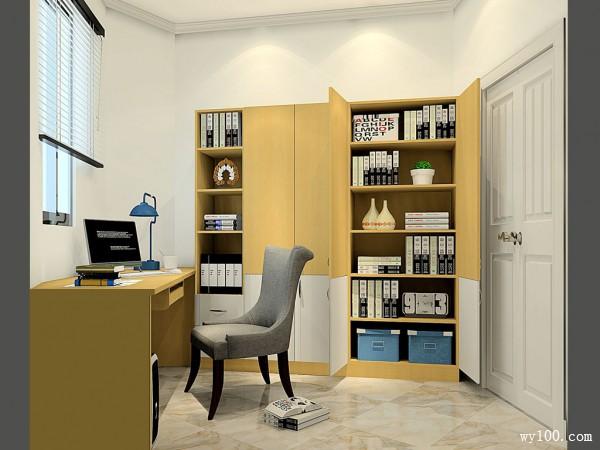 书房装修效果图 6�O书桌解决尖角位置_赌盘网