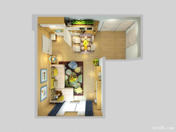 简约现代客餐厅效果图 30�O空间利用率最大化_赌盘网