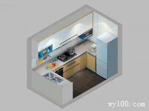 现代厨房装修效果图 5�O简约时尚_维意定制家具商城