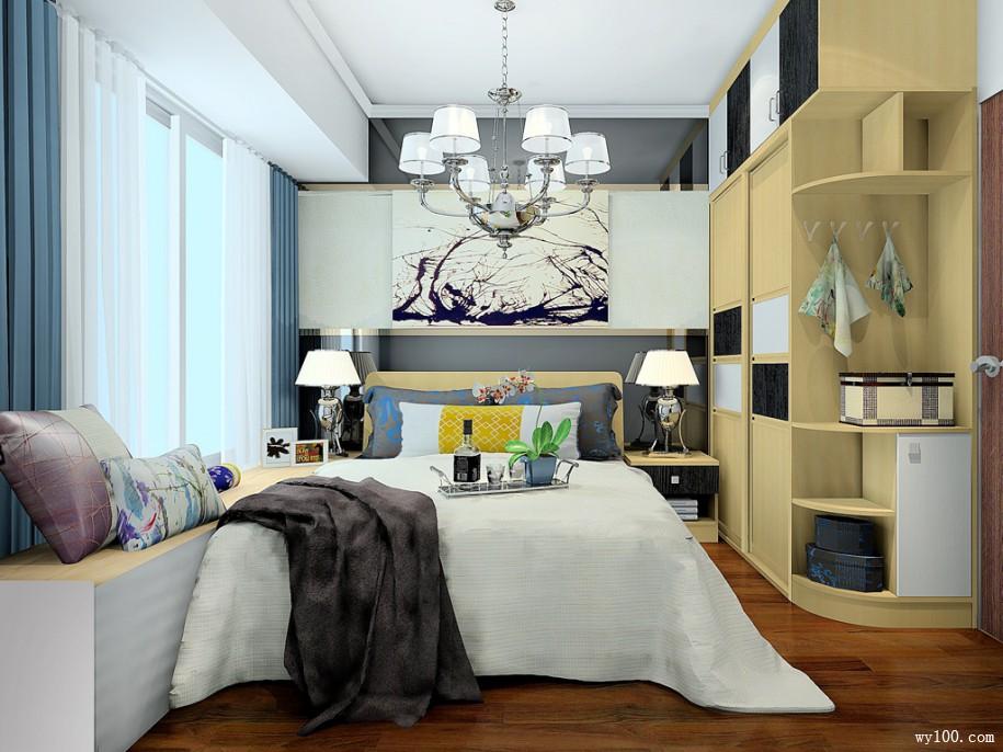 现代卧室装修效果图 9㎡温馨简约