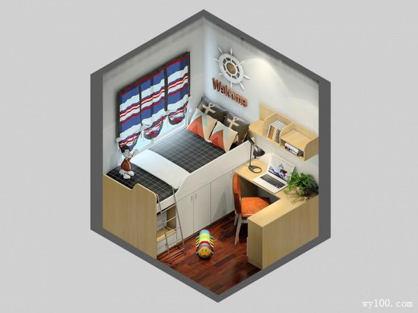 波艾系列儿童房效果图 4�O更合理的利用_赌盘网