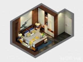 纽凡逊系列卧房效果图 17�O高档、大气_维意定制家具商城