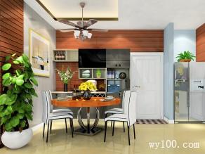 达曼系列客餐厅效果图 40�O实用方便_维意定制家具商城