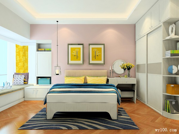福斯特系列卧房效果图 16�O轻松的氛围_维意定制家具商城
