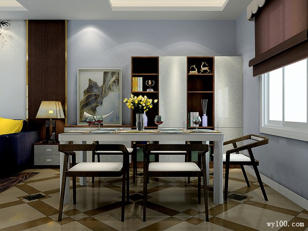 福斯特系列客餐厅效果图 31�O包容与随意_维意定制家具商城