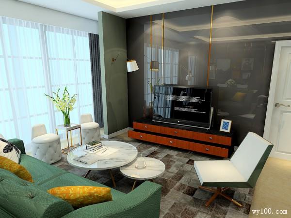 纽凡逊系列客餐厅效果图 32�O现代简约_维意定制家具商城