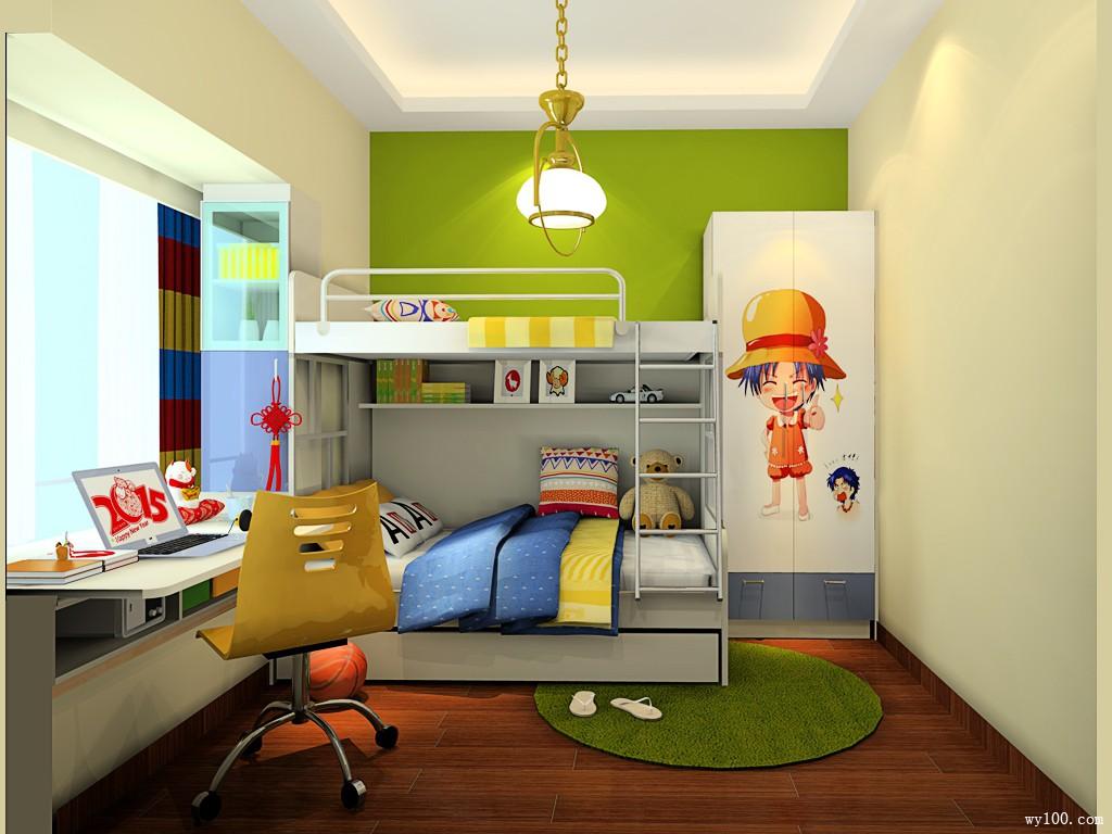 简约风格装修效果图  8�O精装儿童房_维意定制家具商城