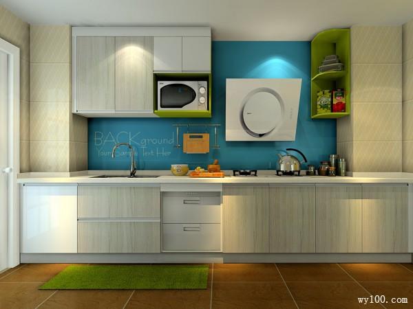 一字型厨房装修效果图