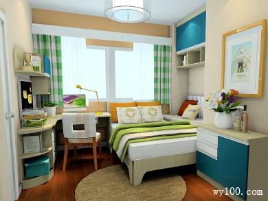 现代卧室效果图 9�O小空间得到了很好的利用 title=