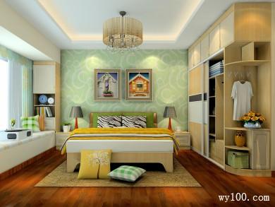卧室设计效果图 16�O整体空间温馨,色彩明快 title=