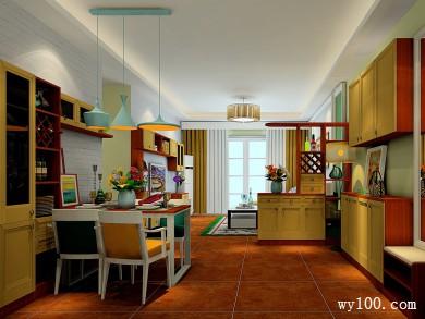 客厅和餐厅吊顶效果图 61�O给人一种自然的感觉 title=