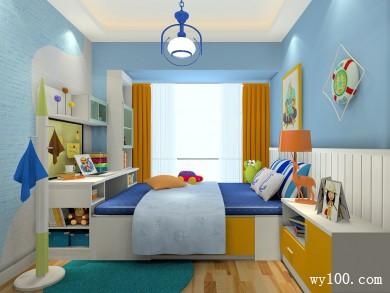 书桌书柜儿童房效果图 7�O满足了日常的需求 title=