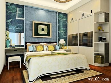 梳妆台卧室效果图 14�O梳妆柜的设计增加了空间 title=
