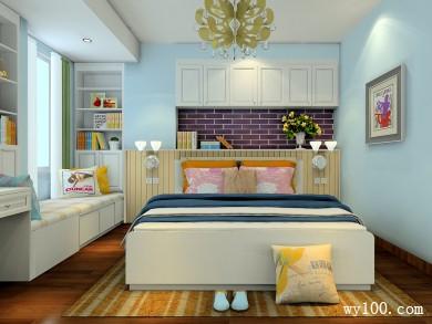 卧室梁吊顶装修效果图 23�O加入了紫色的点缀色 title=